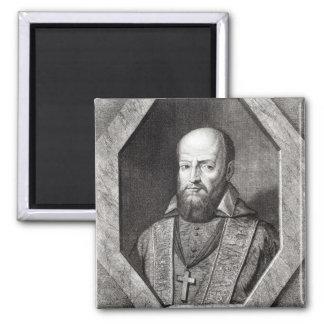 Portrait of Francois de Sales 2 Inch Square Magnet