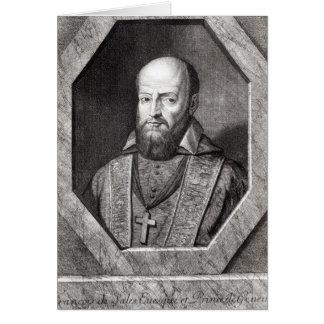 Portrait of Francois de Sales Card