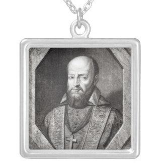 Portrait of Francois de Sales Square Pendant Necklace