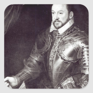 Portrait of Francois I, Duke of Montmorency Square Sticker