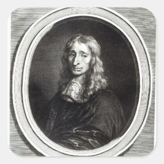 Portrait of Francois Mansart Square Sticker