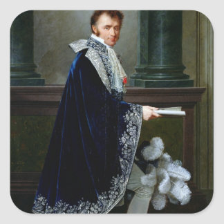 Portrait of Francois-Nicolas Mollien  1806 Square Sticker