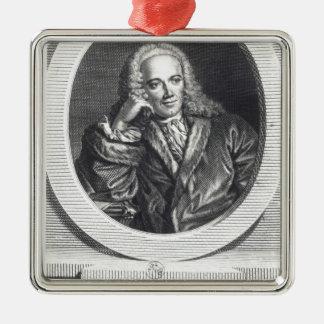 Portrait of Francois Quesnay Metal Ornament
