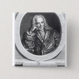 Portrait of Francois Quesnay Pinback Button