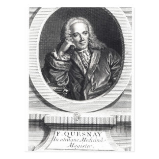 Portrait of Francois Quesnay Postcard