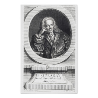 Portrait of Francois Quesnay Poster