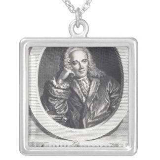 Portrait of Francois Quesnay Silver Plated Necklace