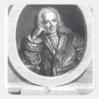 Portrait of Francois Quesnay Square Sticker