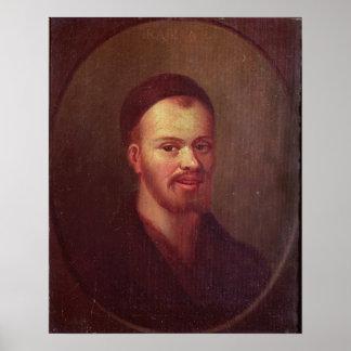 Portrait of Francois Rabelais , French satirist Poster