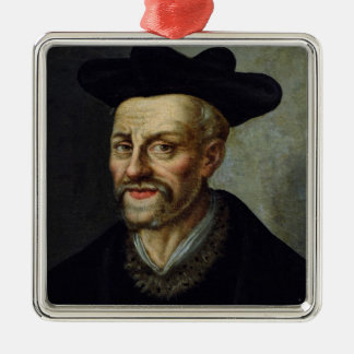 Portrait of Francois Rabelais Metal Ornament