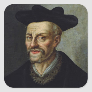 Portrait of Francois Rabelais Square Sticker