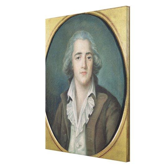 Portrait of Francois Rene Vicomte de 2 Canvas Print