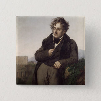 Portrait of Francois Rene Vicomte de Pinback Button