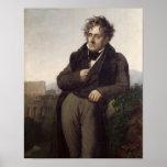 Portrait of Francois Rene Vicomte de Print