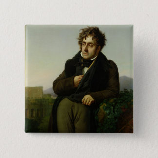 Portrait of Francois Rene  Vicomte Pinback Button