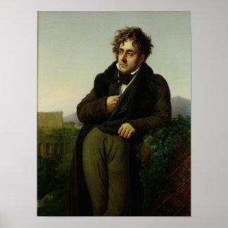 Portrait of Francois Rene  Vicomte Poster