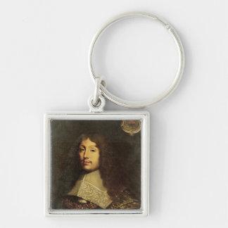 Portrait of Francois VI  Duke of La Silver-Colored Square Keychain