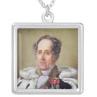 Portrait of Francois Vicomte de Chateaubriand Silver Plated Necklace