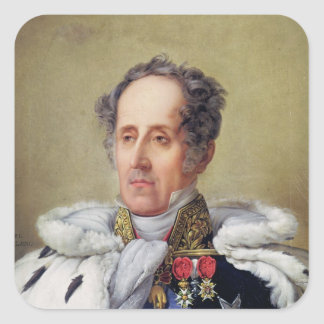 Portrait of Francois Vicomte de Chateaubriand Square Sticker
