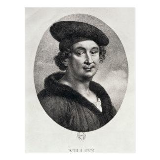 Portrait of Francois Villon Post Cards