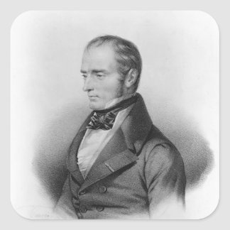 Portrait of Francois Xavier Bichat Square Sticker