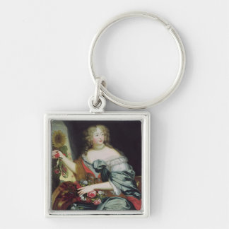 Portrait of Francoise-Athenaise Rochechouart Silver-Colored Square Keychain