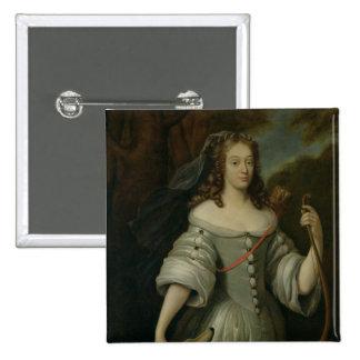 Portrait of Francoise Louise de la Baume 2 Inch Square Button