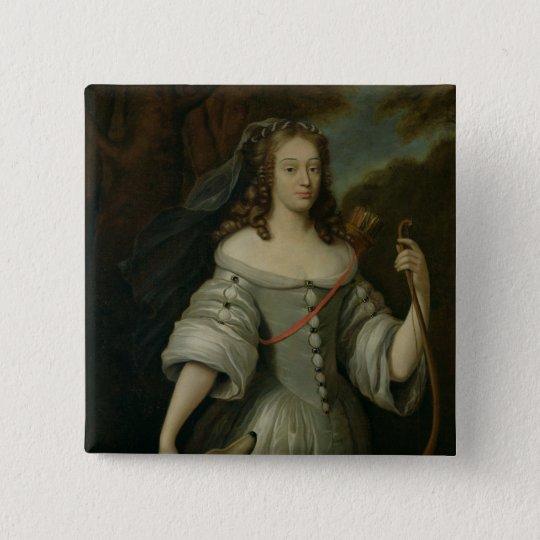 Portrait of Francoise Louise de la Baume Button