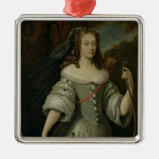 Portrait of Francoise Louise de la Baume Metal Ornament
