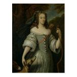 Portrait of Francoise Louise de la Baume Postcard