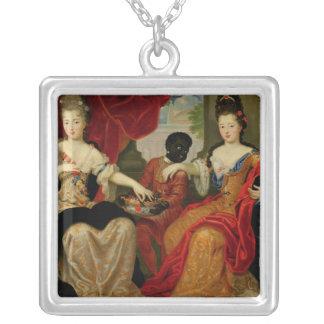Portrait of Francoise-Marie de Bourbon Silver Plated Necklace