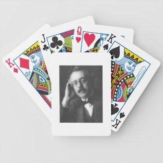 Portrait of Frank Bridge (1879-1941) (b/w photo) Bicycle Playing Cards