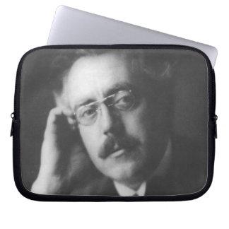Portrait of Frank Bridge (1879-1941) (b/w photo) Laptop Sleeve