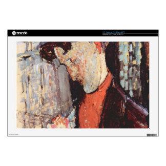 "Portrait of Frank Burty Haviland by Modigliani 17"" Laptop Decal"