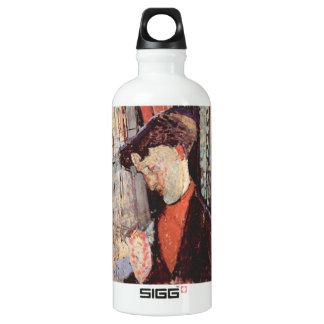 Portrait of Frank Burty Haviland by Modigliani Aluminum Water Bottle