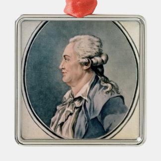Portrait of Franz Anton Mesmer Metal Ornament