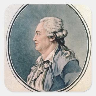 Portrait of Franz Anton Mesmer Square Sticker