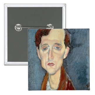 Portrait of Franz Hellens, 1919 (oil on canvas) Pinback Button