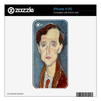 Portrait of Franz Hellens, 1919 (oil on canvas) Skin For iPhone 4S