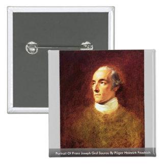 Portrait Of Franz Joseph Graf Saurau Buttons