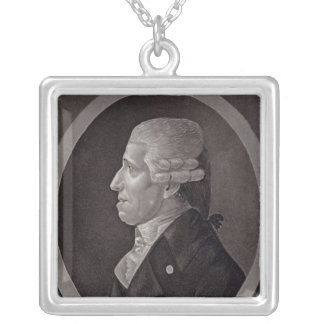 Portrait of Franz Joseph Haydn Silver Plated Necklace