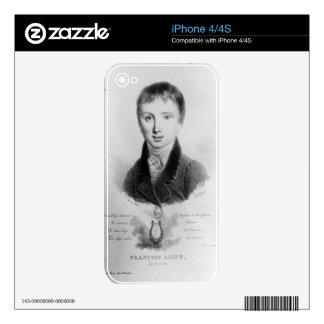 Portrait of Franz Liszt (1811-86) aged 11 (engravi iPhone 4 Skins