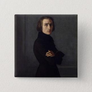 Portrait of Franz Liszt  1839 Button