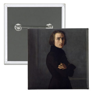 Portrait of Franz Liszt  1839 Button
