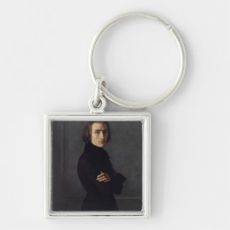 Portrait of Franz Liszt  1839 Keychain