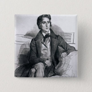 Portrait of Franz Liszt  August 1832 Button