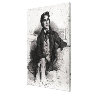 Portrait of Franz Liszt  August 1832 Canvas Print