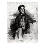 Portrait of Franz Liszt  August 1832 Post Card