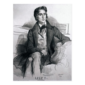 Portrait of Franz Liszt  August 1832 Postcard