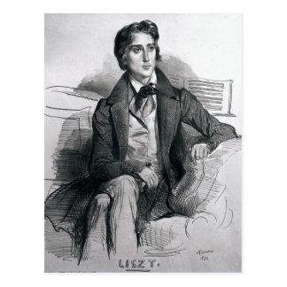 Portrait of Franz Liszt  August 1832 Postcard